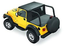 Bestop Halftop 97-02 Jeep Wrangler TJ w/ Factory Hardtop Black Denim