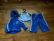 New listing American Girl Today Blue Velour Sweat-Suit Outfit-Used