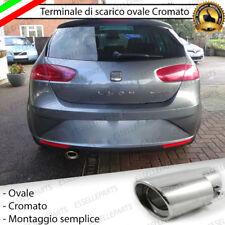 TERMINALE DI SCARICO PER MARMITTA FINALINO CROMATO INOX SEAT LEON 1P1