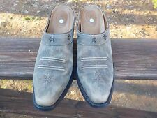 NEW Ariat Womens 9 Desert Star Brown Leather Square Toe Western Boots Mules $159