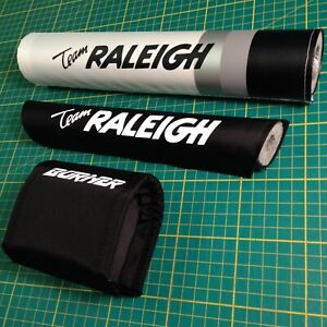 Team Raleigh Burner Padset - Black & Silver Version - Old School BMX