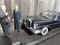 REVELL 1:18 Black 1964 Mercedes 300SE W112 Fintail Kanzler Ludwig Erhard Car Toy