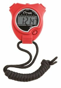 New Champion All Sports Walking Running Stopwatch Timer Daily Alarm Red