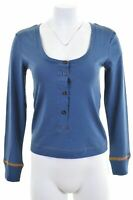 LEVI'S Womens Top Long Sleeve Size 10 Small Blue Cotton  KY25