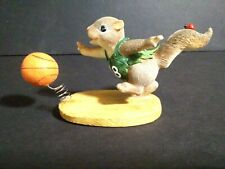 Fitz And Floyd Charming Tails Follow The Bouncing Ball Squirrel Basketball