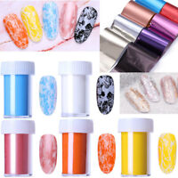 Mirror Holographics Nail Foil Transfer Stickers Nail Tips Decals Decoration