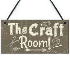 Handmade The Craft Room Home Decor Shabby Chic Hanging Door Wall Shed Plaque