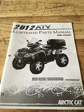 2012 ARCTIC CAT ATV 1000 CRUISER ILLUSTRATED PARTS MANUAL P/N 2259-144