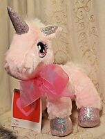 "Dan Dee Unicorn Girl 8"" Pink Sparkle Stuffed Plush Toy Easter Valentine Fantasy"