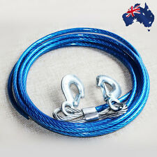 4M Car Tow Cable Heavy Duty Towing Pull Rope Strap Hooks 5 Ton VTOWR0501