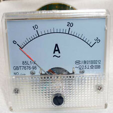 AC 30A Analog Panel Ampmeter Amp Meter Amperemeter Gauge 85L1 Class 2.5 AC 0-30A