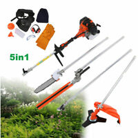52cc 5 in1 Gas Petrol Hedge Trimmer Brush Cutter Chainsaw Multifunctional.