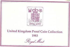 1983 Grande-Bretagne 8 Pièce de Monnaie 2 Page c. O. A.Document Kit