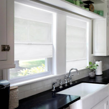 """Chicology Cordless Magnetic Roman Shades White, 31""""W X 64""""H"""