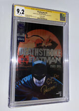 Deathstroke 30 CGC 9.2 SS ✍️ 2X Convention Variant +Foil Cover 🔥 Jericho App NM