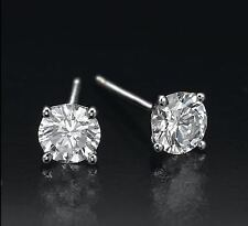 0.60 CT ROUND CUT 14K WHITE GOLD NETURAL G SI LB DIAMONDS STUD EARRINGS cts