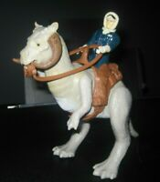 "Vintage star wars 1980 Tauntaun ""closed belly"" w saddle/reins Han Solo Hoth Hong"