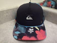 Quicksilver Floral Print Foam Mesh Trucker Snapback Baseball Hat Cap NWOT