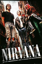 Nirvana - Group Music Poster - 24x36 Alley Alternative Cobain Band 33830