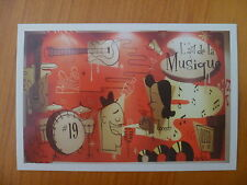 POSTCARD....L'ART DE LA MUSIQUE..50's ANIMATION..OL SCHOOL GRAFFITI..MUSICAL ART