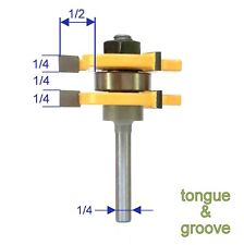 "1 pc 1/4"" Shank Tongue & Groove Assembly Router Bit S"