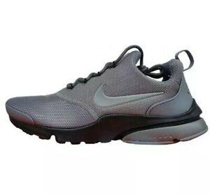 New Boys Ladies Girls Nike Air Presto Fly BG Grey Black Trainers UK Size 4.5
