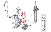 BMWF31 7340975 7340976 Spindle drive Trunk lidSpindelantriebHeckklappe L+R