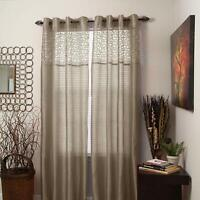 Lavish Home Alla Grommet Curtain Panel, 84-Inch, Taupe