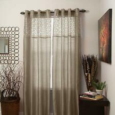 Lavish Home Alla Grommet Curtain Panel, 84-Inch, Taupe