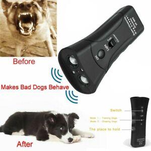 1/2 Ultrasonic Dog Bark Control Handheld Anti-Barking Device Deterrent Silencer