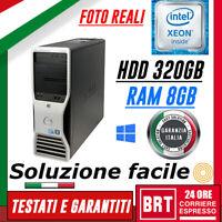 PC DESKTOP COMPUTER FISSO DELL PRECISION T3500 XEON 8 RAM 8GB HDD 320GB OTTIMO!!