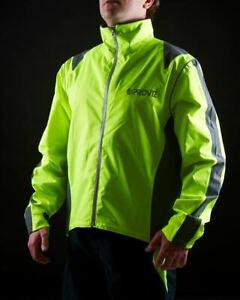 Proviz Nightrider Hi Visibility Women's Cycling Jacket Yellow Size UK 10 Hi Viz
