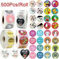 500 Stück Danke Handgemacht mit Liebe Aufkleber Etiketten Sticker Selbstklebende