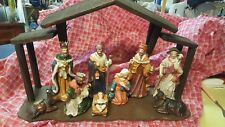 Jc Penney Home Collection Nativity Set , for spare parts, wooden creche included