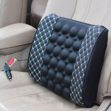 Black/White Car Electric Massage Lumbar Cushion Backrest Pillow Self-heating Pad