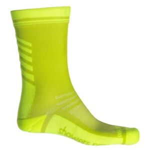 Showers Pass Crosspoint Lightweight Waterproof Cycling Sock in Hi Vis Yellow