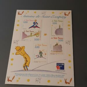 Bloc timbres France 1998 YT BF20. Philexfrance 99'. Antoine de Saint-Exupéry