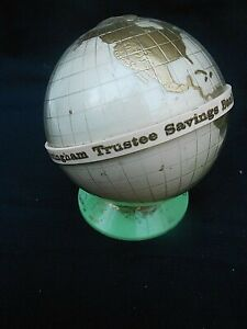 Vintage * NOTTINGHAM TRUSTEES SAVINGS BANK - YOUR FAMILY BANK * Globe Money Box