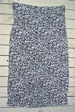W-Lane Size 20 Animal Print White/Khaki/Black SKIRT NEW $69.99 Back Booty Pleat