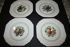 Four Vintage Cuthbertson Decorative Embossed Fruit Plates, 8 1/4 inches