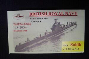 HP Models  Brit. U-Boot der S-Klasse 3. Gr. HMS Sahib -1942/43-  1:700 Resin