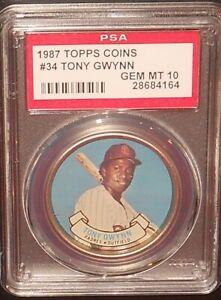 PSA 10 GEM MINT 10 - Tony Gwynn 1987 Topps Coins Card San Diego Padres