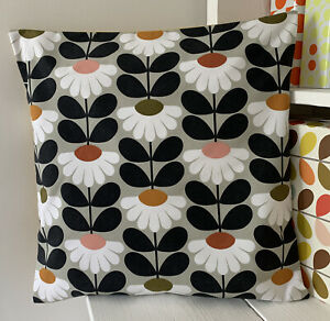 Orla Kiely Cushion Cover Ditsy Daisy, Mustard Bk           Handmade In Cornwall