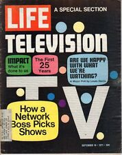 LIFE Sep 10 1971 25 Years of Television, Fred Silverman, Bourke-White, Botulism