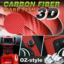 151cm x 60cm 3D Red Carbon Fiber Textured Car Vinyl Film Decorative Sticker Wrap