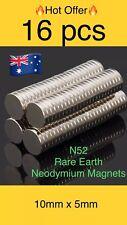 16pcs 10X2mm Super Strong Round Disc Rare Earth Neodymium Magnets Fridge N52