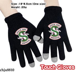 Riverdale Print Full Finger Touch Gloves Unisex Winter Warm Knitted Mittens Gift