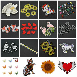 DIY Sew Iron On Patch Embroidery Patches Applique Stickers Fabric Badge Bag Gift