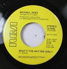 Rock Promo 45 Michael Dees - What'S The Matter Girl? / Song For Someone On Rca