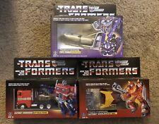 3 Transformers G1 Reissue Figures Astrotrain, Optimus Prime & Hotrod New Walmart